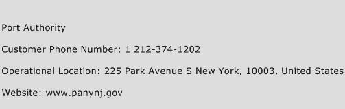 Port Authority Phone Number Customer Service