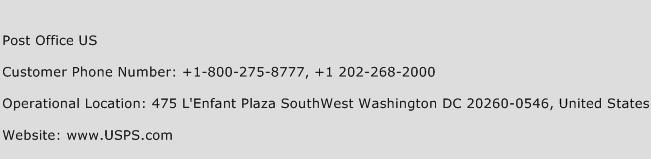 Post Office US Phone Number Customer Service