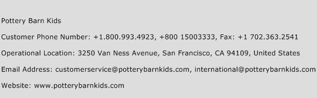 Pottery Barn Kids Phone Number Customer Service