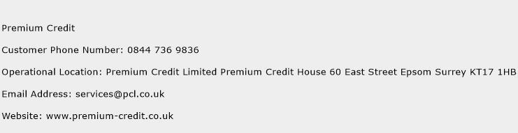 Premium Credit Phone Number Customer Service