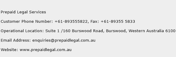 Prepaid Legal Services Phone Number Customer Service
