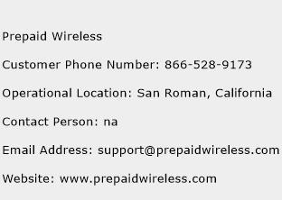 Prepaid Wireless Phone Number Customer Service