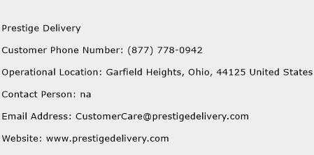 Prestige Delivery Phone Number Customer Service