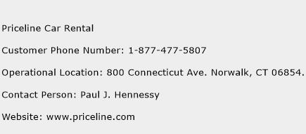 Priceline Car Rental Phone Number Customer Service