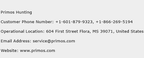 Primos Hunting Phone Number Customer Service