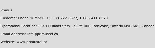 Primus Phone Number Customer Service