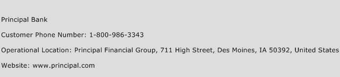 Principal Bank Phone Number Customer Service