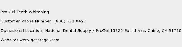 Pro Gel Teeth Whitening Phone Number Customer Service