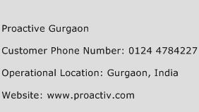 Proactive Gurgaon Phone Number Customer Service