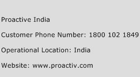 Proactive India Phone Number Customer Service