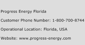 Progress Energy Florida Phone Number Customer Service