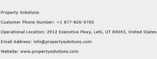 Property Solutions Phone Number Customer Service