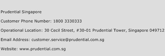 Prudential Singapore Number  Prudential Singapore Customer Service Phone Number  Prudential