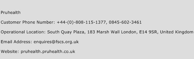 Pruhealth Phone Number Customer Service