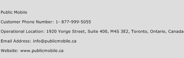 Public Mobile Phone Number Customer Service