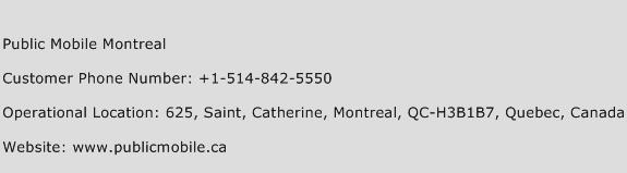 Public Mobile Montreal Phone Number Customer Service