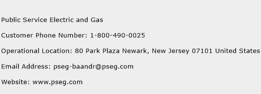 Public Service Electric and Gas Phone Number Customer Service
