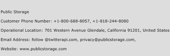 Public Storage Phone Number Customer Service