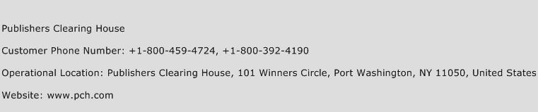 Publishers Clearing House Phone Number Customer Service