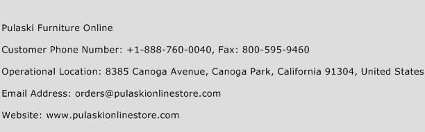 Pulaski Furniture Online Phone Number Customer Service