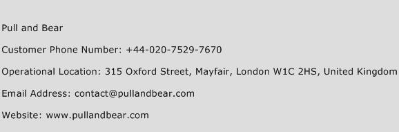 Pull and Bear Phone Number Customer Service