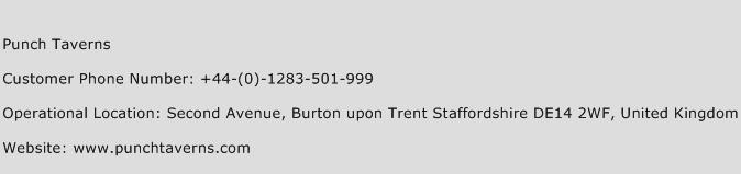 Punch Taverns Phone Number Customer Service