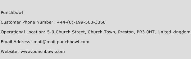 Punchbowl Phone Number Customer Service
