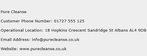 Pure Cleanse Phone Number Customer Service