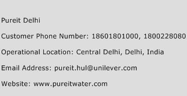 Pureit Delhi Phone Number Customer Service