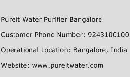 Pureit Water Purifier Bangalore Phone Number Customer Service