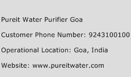 Pureit Water Purifier Goa Phone Number Customer Service