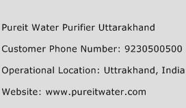 Pureit Water Purifier Uttarakhand Phone Number Customer Service