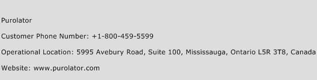 Purolator Phone Number Customer Service