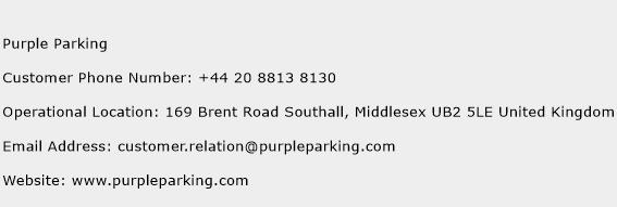 Purple Parking Phone Number Customer Service