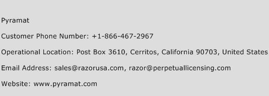 Pyramat Phone Number Customer Service
