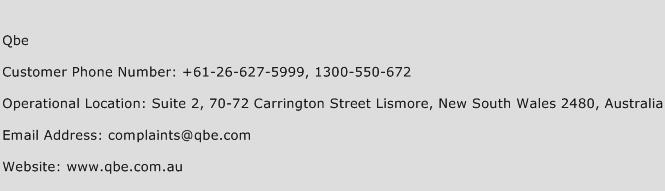 QBE Phone Number Customer Service