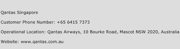 Qantas Singapore Phone Number Customer Service