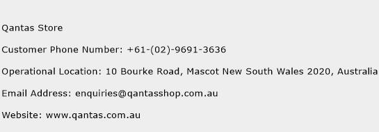 Qantas Store Phone Number Customer Service