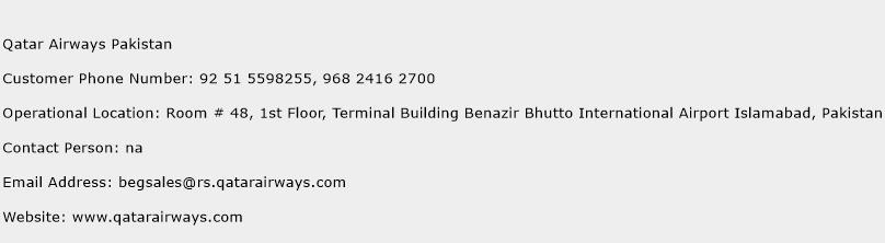 Qatar Airways Pakistan Phone Number Customer Service