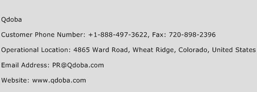 Qdoba Phone Number Customer Service
