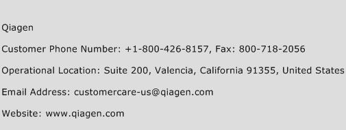Qiagen Phone Number Customer Service