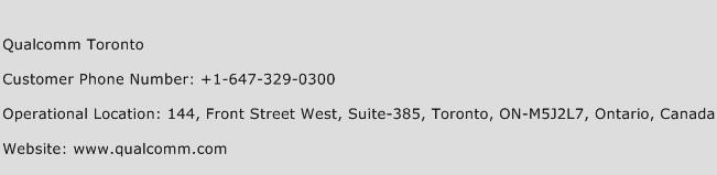 Qualcomm Toronto Phone Number Customer Service