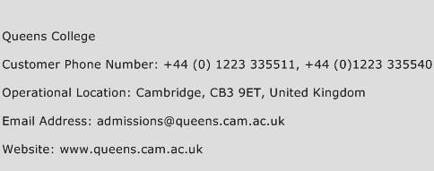 Queens College Phone Number Customer Service