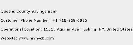 Queens County Savings Bank Phone Number Customer Service