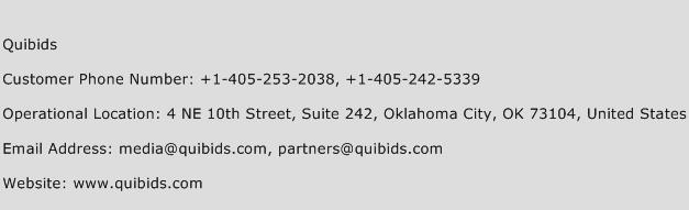 Quibids Phone Number Customer Service