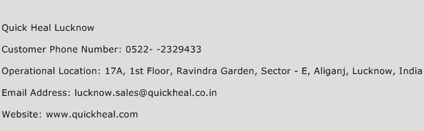 Quick Heal Lucknow Phone Number Customer Service
