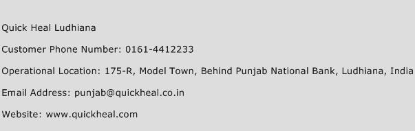 Quick Heal Ludhiana Phone Number Customer Service