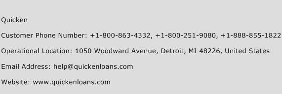 Quicken Phone Number Customer Service