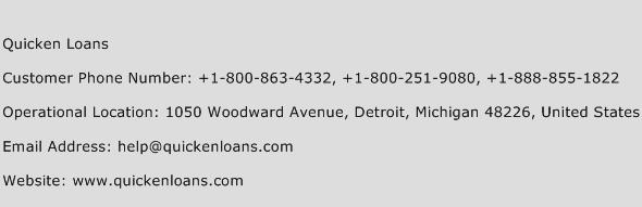 Quicken Loans Phone Number Customer Service