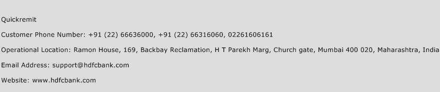Quickremit Phone Number Customer Service